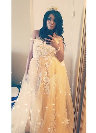 Photos From Ubi Franklin's 4th Baby Mama, Sandra Iheuwa's Baby Shower