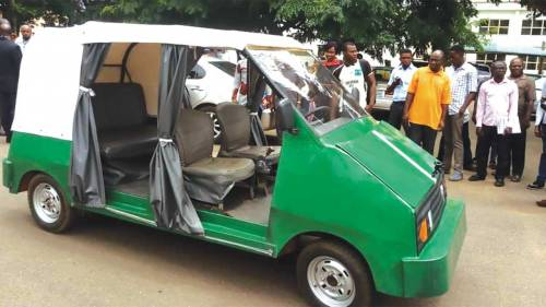 NEWS; Lion Ozumba 551': University Of Nigeria (UNN) Makes Electric Vehicle (Photos)