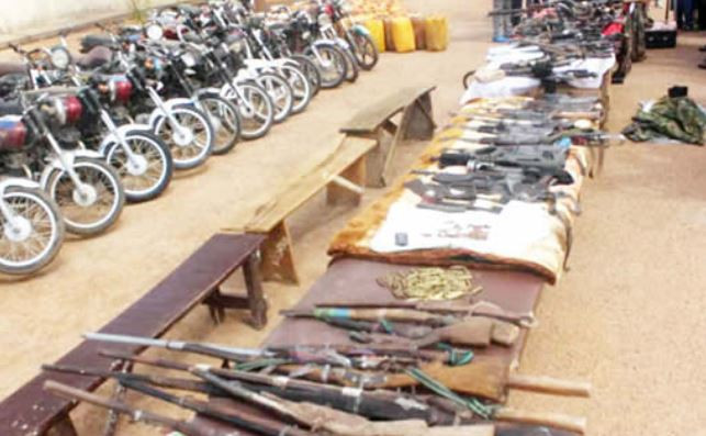 SHOCKING! Bandits Surrender 216 Rifles In Zamfara State