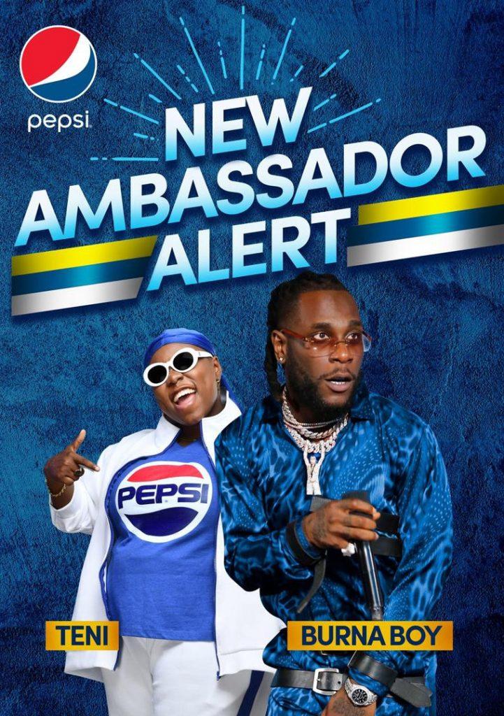 Teni And Burna Boy Unveiled As New Pepsi Brand Ambassadors
