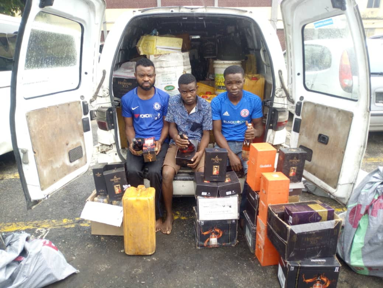 About 3 Suspects Arrested For Producing Fake And Adulterated Drinks In Lagos (Photo)
