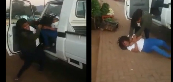 See How Wife Beats Up Husband's Girlfriend, Bruised Her On The Street