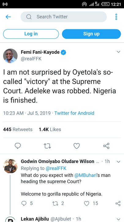 Supreme Court: Adeleke Was Robbed, Nigeria Is Finished – Fani-Kayode