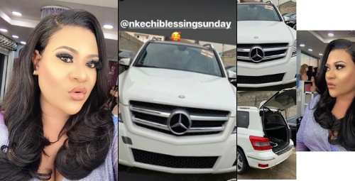 Actress Nkechi Blessing Shamed For Stealing Car Pictures And Claiming She Bought It