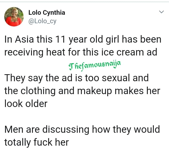 Outrage As Asian Men Want To Have Sex With 11-Year-Old Girl After This Advert