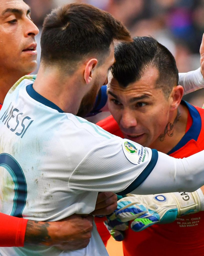 SPORT: Messi Finishes Copa America With Red Card After Furious Medel Clash