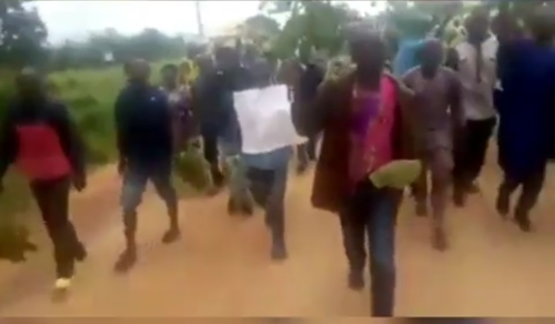 Unpaid Kogi Workers Protest Against Yahaya Bello (Photos)