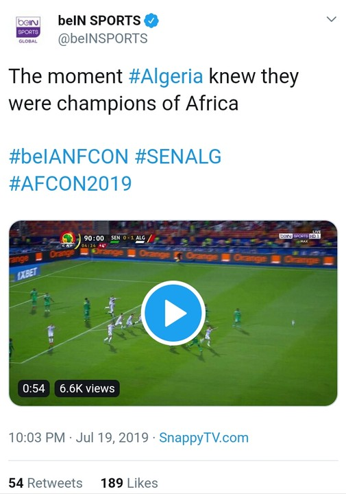 The Moment Algeria Won 2019 AFCON, Players Bowed And Prayed