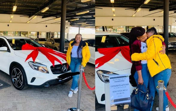 VIDEO: 23 Year Old Female Student Buys Mercedes Benz For Her Mother