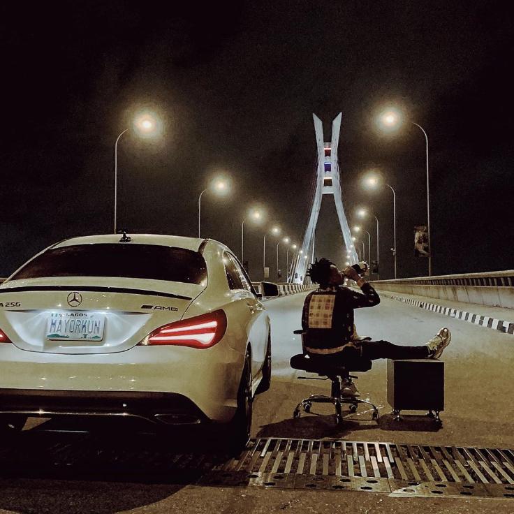 Mayokun Sit, With His Brand New (GLA250AMC) Benz, Date At Ikoyi Bridge