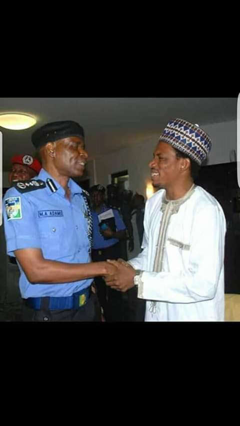 Sex-Toy Shop Assault: Senator Abbo Shakes IGP Adamu, Laughs With Him