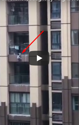 PICS: Baby Who Falls From 6-Storey Building, Gets Caught By Neighbours