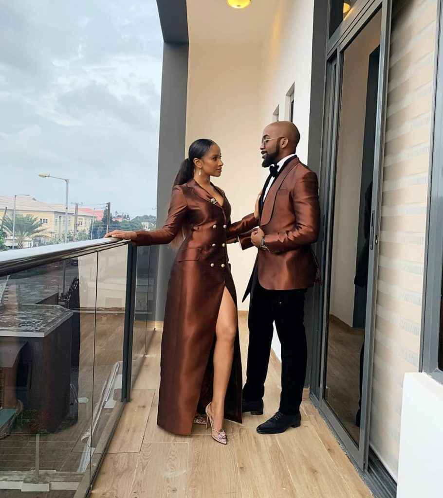 Banky W And His Wife Adesua Pose Together In Really Cute Photo