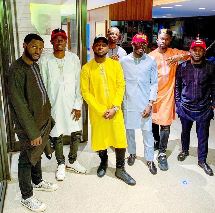Davido And His DMW Crew Rock Native Attires As They Pose Together In Senegal (Pics)