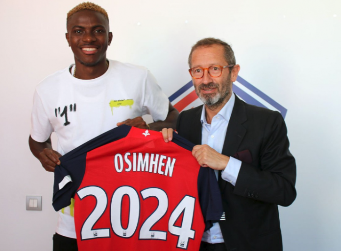 Super Eagles Striker Victor Osimhen Completes €15m Move To Lille From Charleroi (Photos)