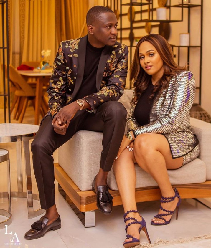See Tania Omotayo And Her Husband Poses For New Month