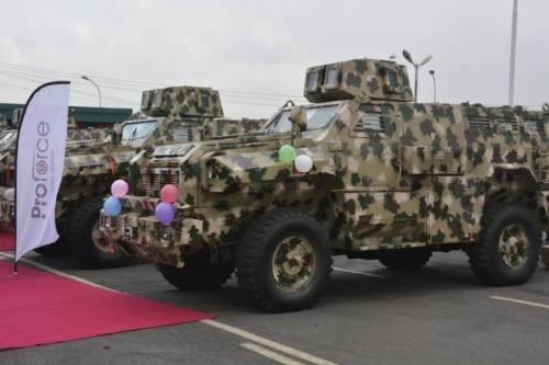 BULLET PROOF: – Army Shows Off Its Latest Made-In-Nigeria Mine And Bomb Resistant Vehicles (Photos)