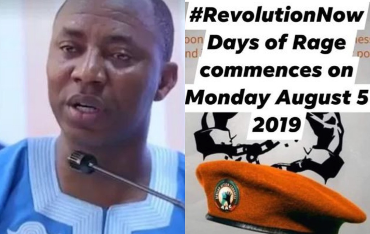 Photos Of Sowore's Car Bashed During His Arrest