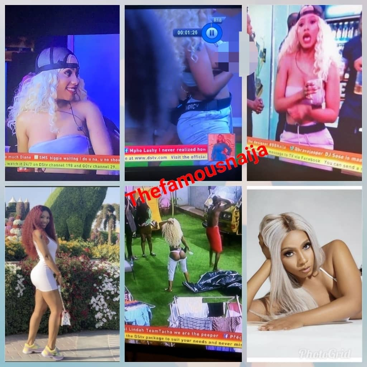BBNaija 2019:- See The Moment Mercy Exposed Her Bare Chest On TV As Nigerians React