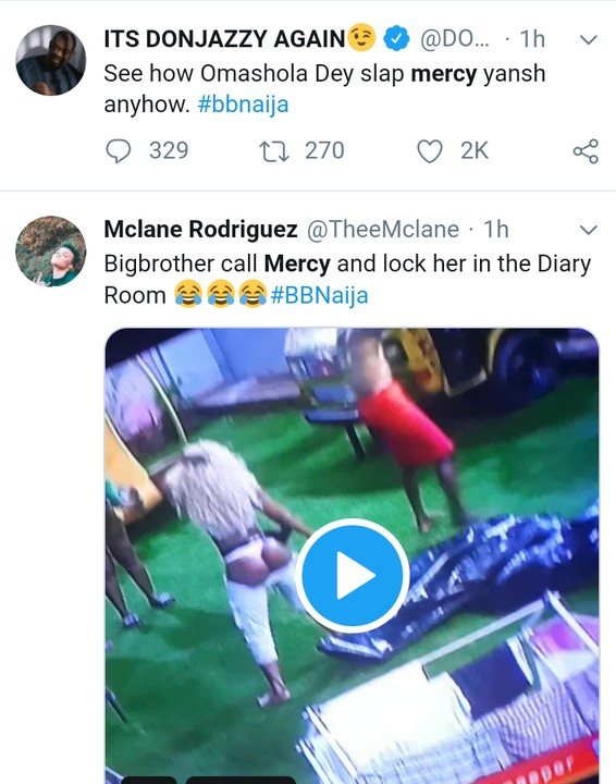 BBNaija 2019:- Mercy Twerks, Omashola Slaps Her Backside – DonJazy Reacts