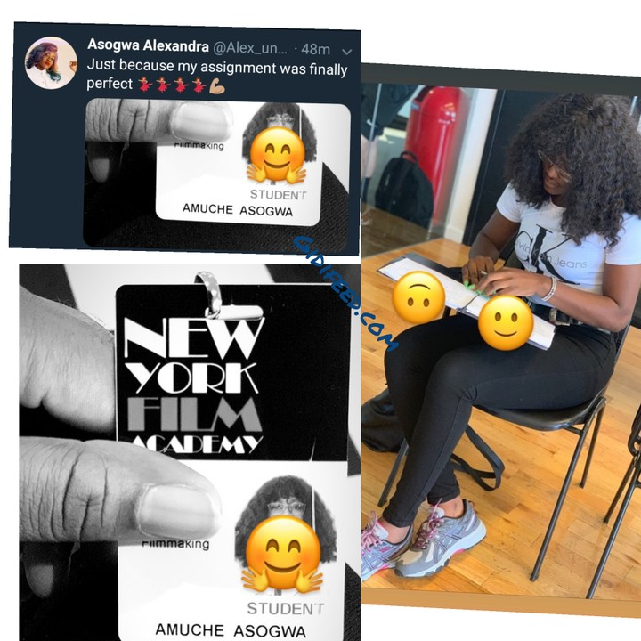 WOW — BBNaija's Alex Now A Student At New York Film Academy