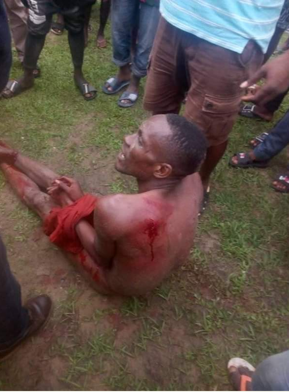 Kidnappers Nabbed In Akwa Ibom – Beaten And Stripped Nak*d By Vigilante – Ikot Akpaden