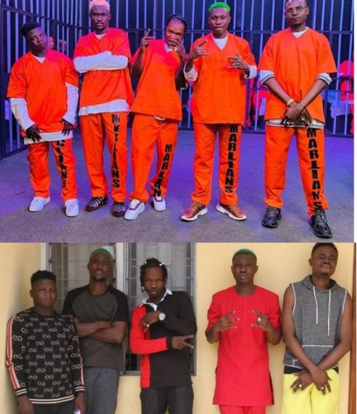 Naira Marley Has Gotten His Prison Uniform –  Zlatan & Rahmah Jago Creates EFCC 'Mugshot'