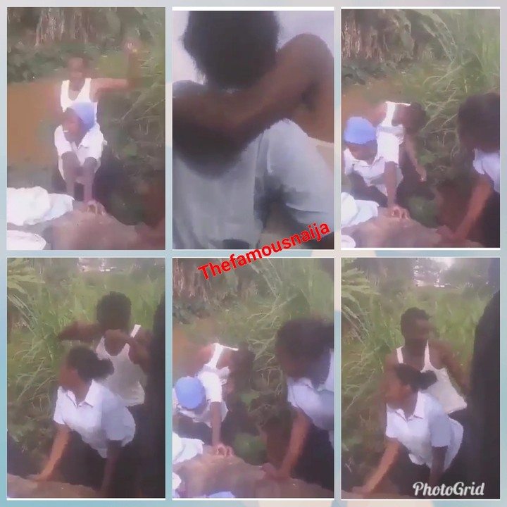 See What Secondary School Boys And Girls Were Caught Doing Near A Bush