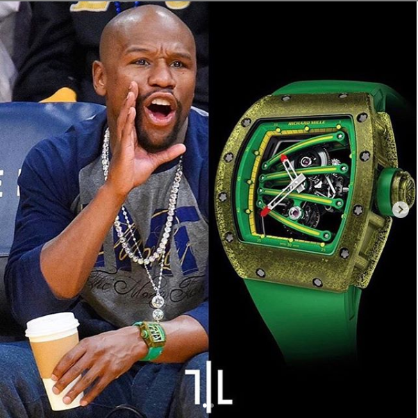 Floyd Mayweather Get  Some Expensive Wristwatches And One Is Worth Over N200m (See Photos)