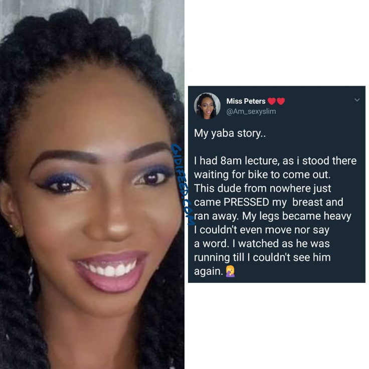 "LOL! Beautiful Lady Narrates Her Experience With A ""Chest Presser"" In Yaba"