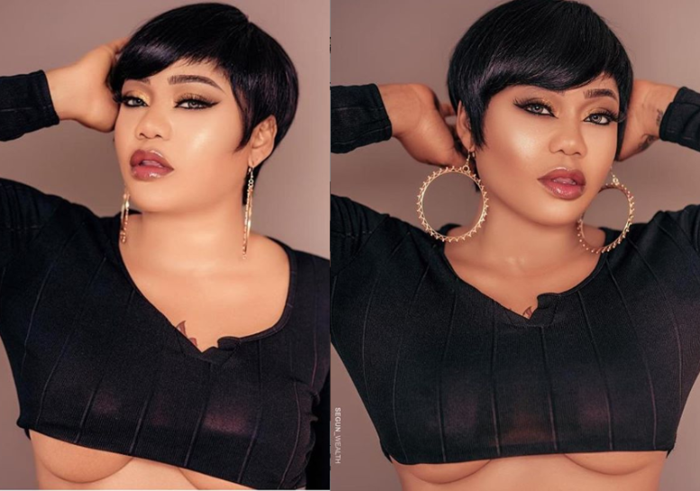 HOTTEST: Toyin Lawani Flaunts Underboob In New Photos
