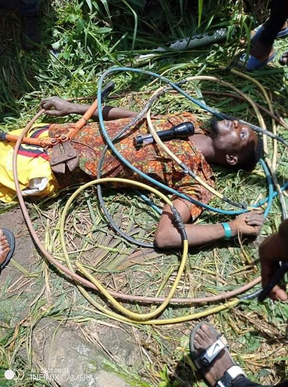 Thief Electrocuted While Stealing Cables From A Transformer In Delta (Photo)