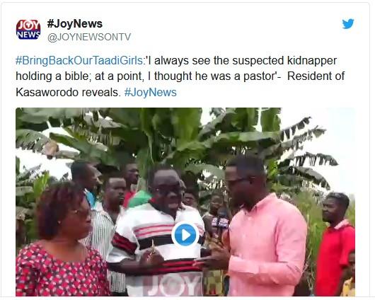 Suspected Nigerian Kidnapper In Takoradi, Ghana Always Holds Bible – Resident Pics