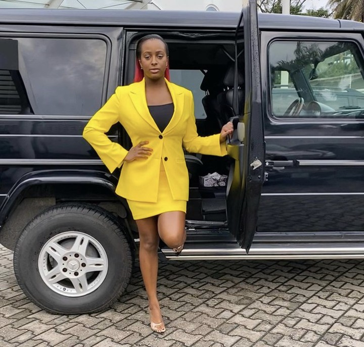 DJ Cuppy Poses With Her G Wagon In A Corporate Outfit (Photos) 3