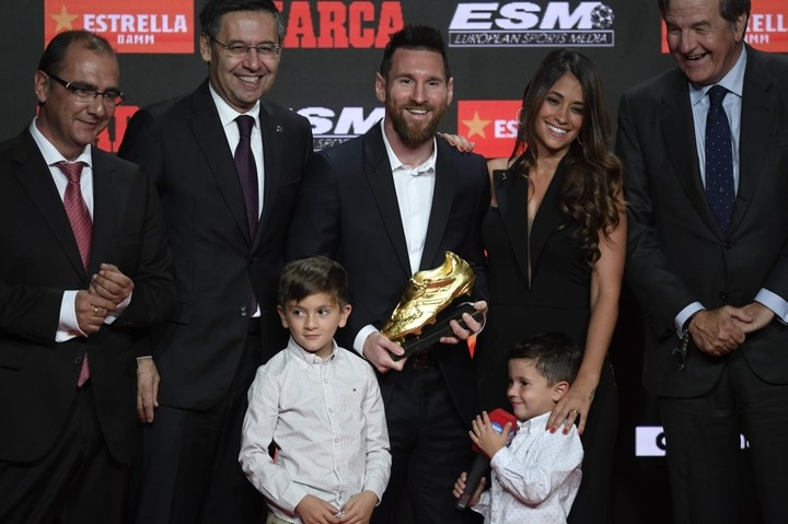 Fans Hail Lionel Messi's Son, Mateo, After Youngster Handled Father's Golden Shoe