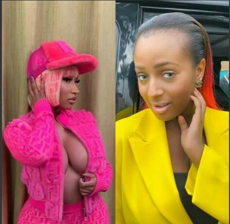 Nicki Minaj Gives DJ Cuppy A Shout Out