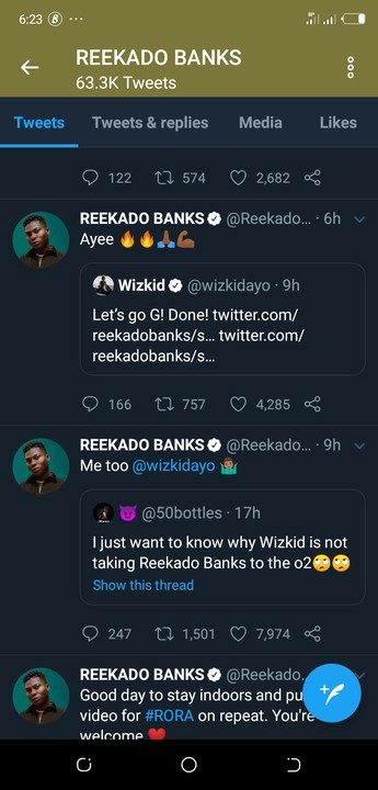 Reekado Banks Asks Wizkid To Add Him To List Of Performing Artistes For 0² Arena 1