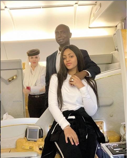 Regina Daniels And Husband, Ned Nwoko Looking Good Inside An Airplane