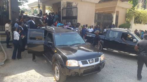 DSS Officials Chase Falana As He Drives Sowore Out Of Court Premises