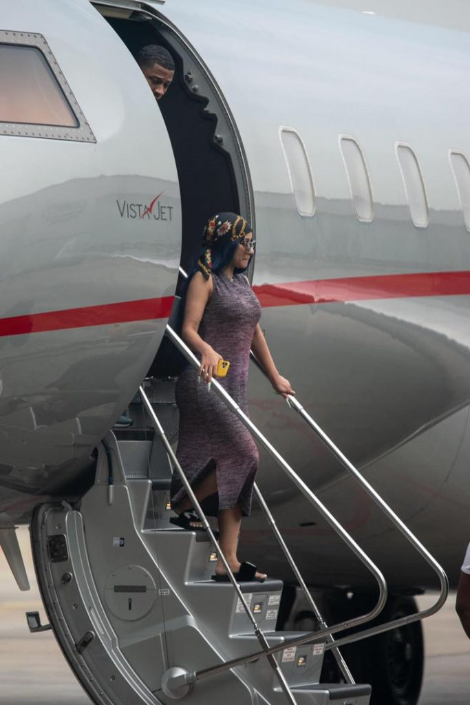Cardi B Arrives Lagos In $20,000,000 Private Jet 2