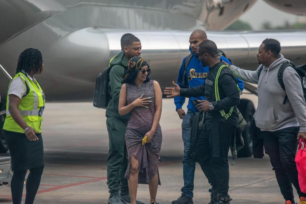 Cardi B Arrives Lagos In $20,000,000 Private Jet 3