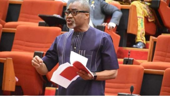 The Moment Senator Abaribe Asked President Buhari To Resign