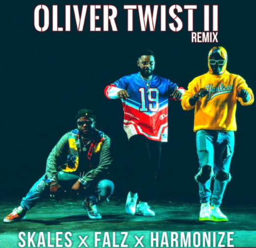 Download Music Mp3:- Skales Ft Falz, And Harmonize – Oliver Twist (Remix)