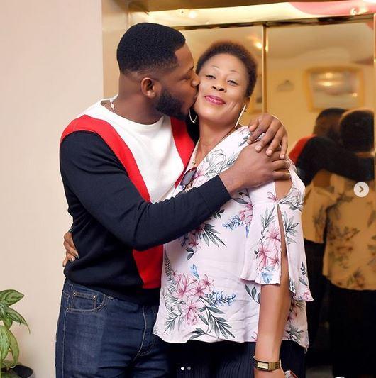 BBNaija Star, Frodd Shows Off His Beautiful Mum To Celebrate Her 50th Birthday (Photos) 1