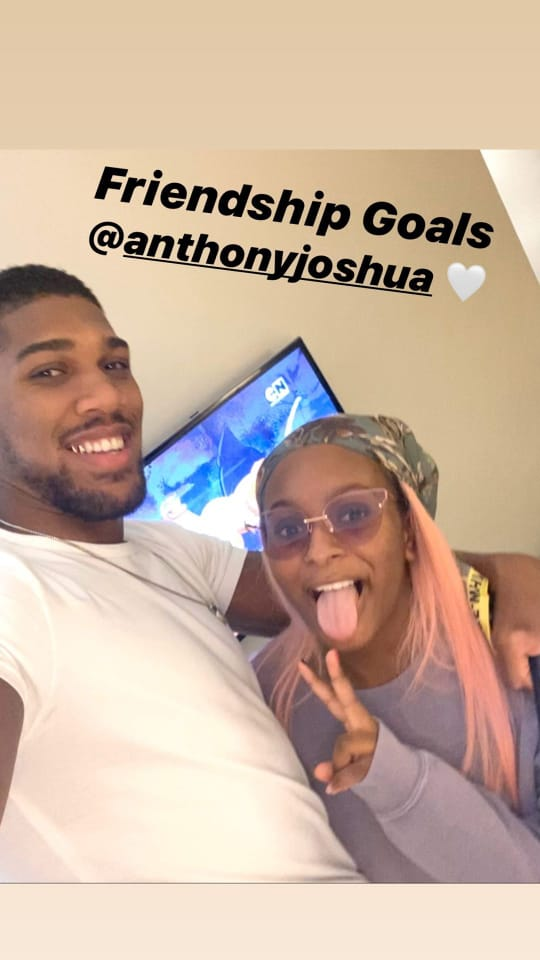 DJ Cuppy And Anthony Joshua Laugh At Each Other As They Try To Speak Yoruba 3