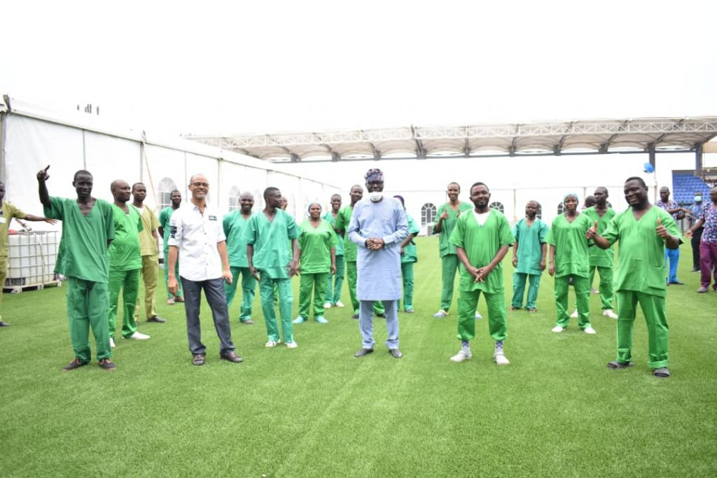 Sanwo-Olu Commissions GTBank 110-Bed Space Isolation Centre ...