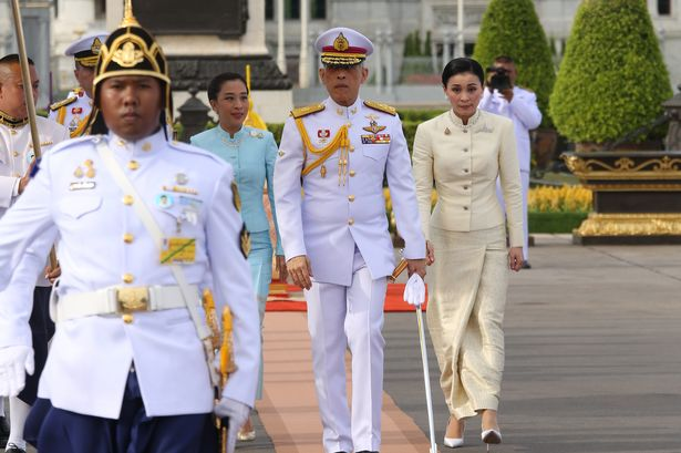 Check Out King Maha Vajiralongkorn And His 20 Girlfriends In Hotel During Lockdown
