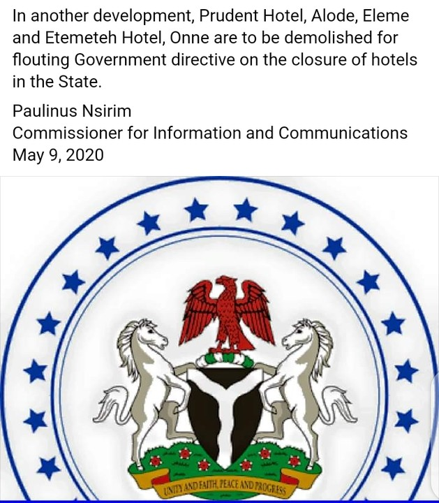 Prudent Hotel, Etemeteh Hotel To Be Demolished For Flouting Wike's Directives 1