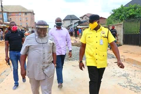 Ikpeazu Inspects Projects In Abia, Stops Street Trading At Opobo Area (Photos)