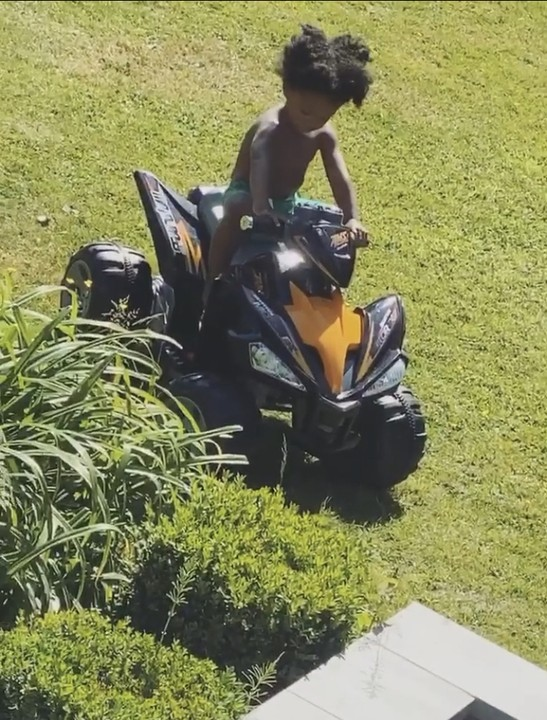 Wizkid's Son, Zion Balogun Is A Stunt Rider